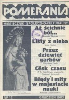 Pomerania : miesięcznik społeczno-kulturalny, 1983, nr 12