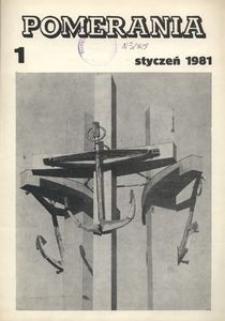 Pomerania : miesięcznik społeczno-kulturalny, 1981, nr 1
