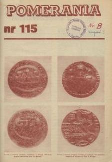 Pomerania : miesięcznik społeczno-kulturalny, 1981, nr 8