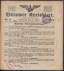 Bütower Kreisblatt 1870