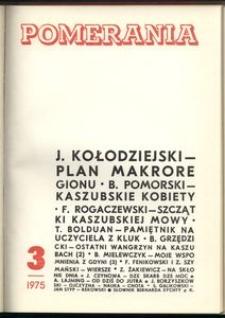 Pomerania : miesięcznik społeczno-kulturalny, 1975, nr 3
