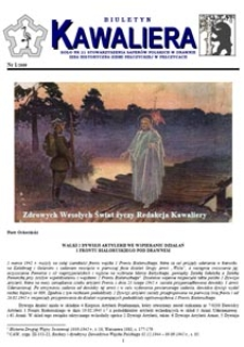 Kawaliera : biuletyn Koła nr 21, 2009, nr 1