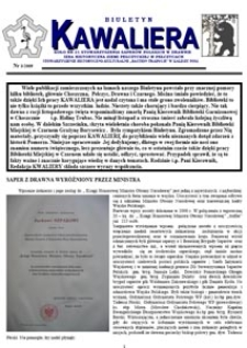 Kawaliera : biuletyn Koła nr 21, 2009, nr 3