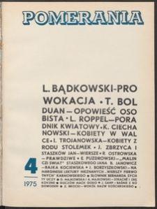 Pomerania : miesięcznik społeczno-kulturalny, 1975, nr 4