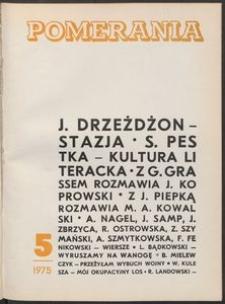 Pomerania : miesięcznik społeczno-kulturalny, 1975, nr 5