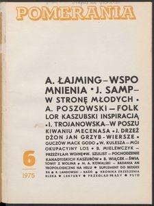 Pomerania : miesięcznik społeczno-kulturalny, 1975, nr 6