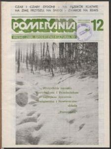 Pomerania : miesięcznik społeczno-kulturalny, 1986, nr 12