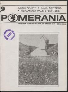 Pomerania : miesięcznik kulturalny, 1989, nr 9