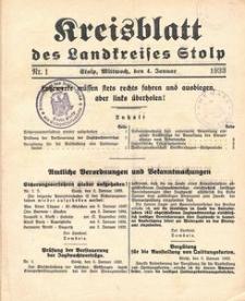 Kreisblatt des Stolper Kreises, 1933
