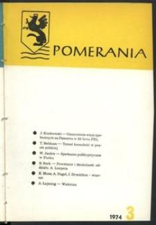 Pomerania : miesięcznik społeczno-kulturalny, 1974, nr 3