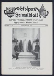 Stolper Heimatblatt für die Heimatvertriebenen aus der Stadt und dem Landkreise Stolp in Pommern Nr. 2/1962