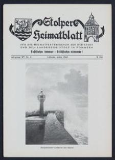 Stolper Heimatblatt für die Heimatvertriebenen aus der Stadt und dem Landkreise Stolp in Pommern Nr. 3/1962