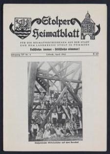 Stolper Heimatblatt für die Heimatvertriebenen aus der Stadt und dem Landkreise Stolp in Pommern Nr. 4/1962