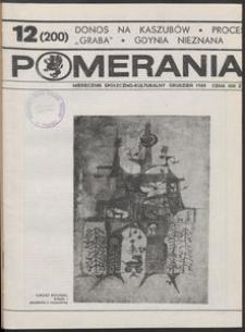 Pomerania : miesięcznik kulturalny, 1989, nr 12