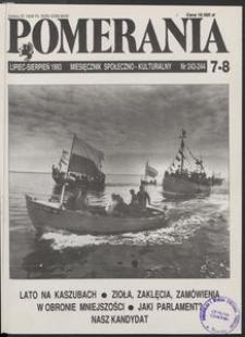 Pomerania : miesięcznik społeczno-kulturalny, 1993, nr 7-8