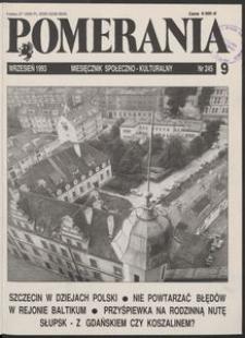 Pomerania : miesięcznik społeczno-kulturalny, 1993, nr 9