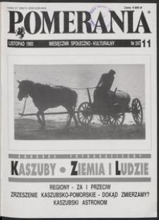 Pomerania : miesięcznik społeczno-kulturalny, 1993, nr 11