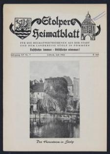 Stolper Heimatblatt für die Heimatvertriebenen aus der Stadt und dem Landkreise Stolp in Pommern Nr. 7/1962