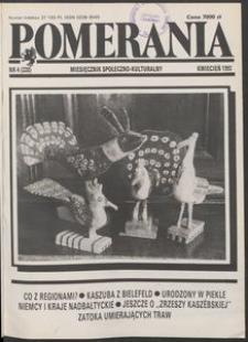 Pomerania : miesięcznik społeczno-kulturalny, 1992, nr 4