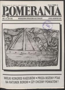 Pomerania : miesięcznik społeczno-kulturalny, 1992, nr 7-8