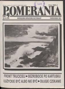 Pomerania : miesięcznik społeczno-kulturalny, 1992, nr 10