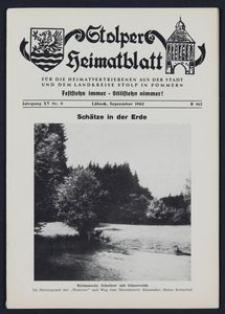 Stolper Heimatblatt für die Heimatvertriebenen aus der Stadt und dem Landkreise Stolp in Pommern Nr. 9/1962