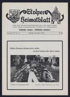 Stolper Heimatblatt für die Heimatvertriebenen aus der Stadt und dem Landkreise Stolp in Pommern Nr. 11/1962