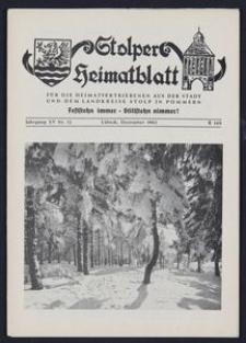 Stolper Heimatblatt für die Heimatvertriebenen aus der Stadt und dem Landkreise Stolp in Pommern Nr. 12/1962