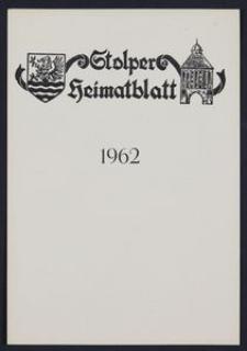 Stolper Heimatblatt für die Heimatvertriebenen aus der Stadt und dem Landkreise Stolp in Pommern, Stichwortverzeichnis 1962