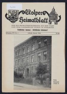 Stolper Heimatblatt für die Heimatvertriebenen aus der Stadt und dem Landkreise Stolp in Pommern Nr. 1/1963