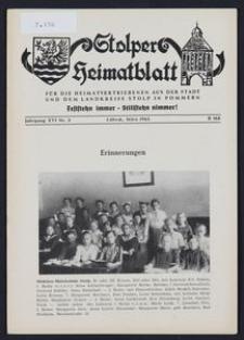 Stolper Heimatblatt für die Heimatvertriebenen aus der Stadt und dem Landkreise Stolp in Pommern Nr. 3/1963