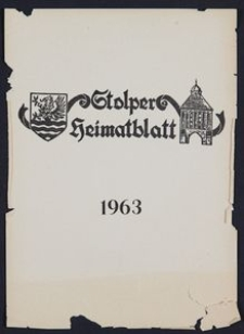 Stolper Heimatblatt für die Heimatvertriebenen aus der Stadt und dem Landkreise Stolp in Pommern, Stichwortverzeichnis 1963