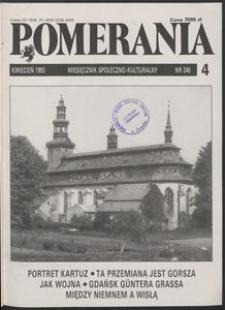 Pomerania : miesięcznik społeczno-kulturalny, 1993, nr 4