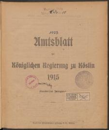 Amtsblatt der Königlichen Regierung zu Köslin 1915