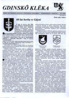 Gdinskô Klëka : pismo Gdyńskiego Oddziału Zrzeszenia Kaszubsko-Pomorskiego. Nr 1 (37) 2006