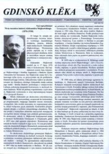 Gdinskô Klëka : pismo Gdyńskiego Oddziału Zrzeszenia Kaszubsko-Pomorskiego. Nr 1 (47) 2008