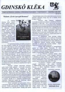 Gdinskô Klëka : pismo Gdyńskiego Oddziału Zrzeszenia Kaszubsko-Pomorskiego. Nr 2 948) 2008