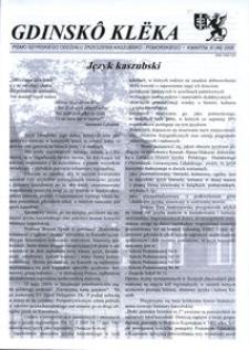 Gdinskô Klëka : pismo Gdyńskiego Oddziału Zrzeszenia Kaszubsko-Pomorskiego. Nr 3 (49) 2008