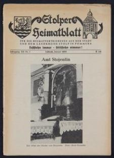 Stolper Heimatblatt für die Heimatvertriebenen aus der Stadt und dem Landkreise Stolp in Pommern Nr. 1/1959