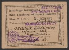 Bilet bezpłatny okresowy imienny