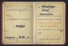 Dokument Odznaki Nr 3139/67