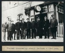Pierwsi pracownicy stacji Darłowo -1945 rok