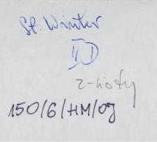 List Stanisława Wintera
