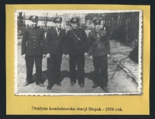 Drużyna konduktorska stacji Słupsk - 1950 rok