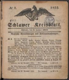 Schlawer Kreisblatt 1855