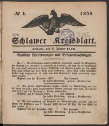 Schlawer Kreisblatt 1858