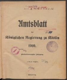 Amtsblatt der Königlichen Regierung zu Köslin 1910