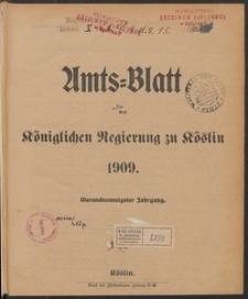 Amts-Blatt der Königlichen Regierung zu Köslin 1909