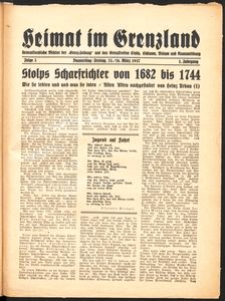 Heimat im Grenzland Nr. 5/1937