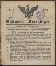 Schlawer Kreisblatt 1853